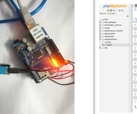 Arduino Is Sending Temperature and Humidity Data to MySQL Server(PHPMYADMIN)