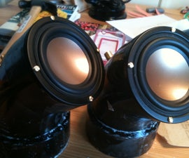 PVC Pipe Desk Speakers With Bass Port
