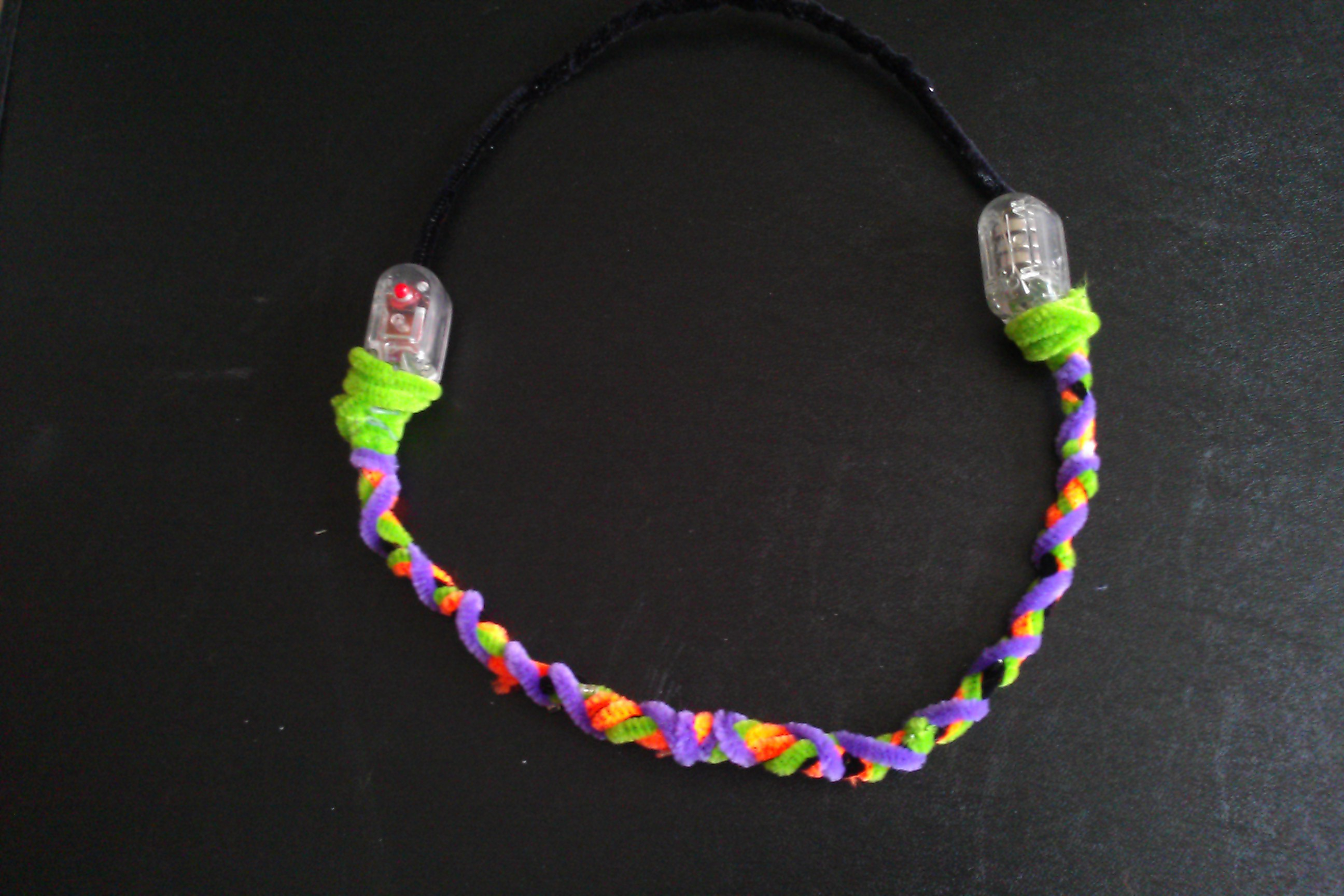 Picture of Halloween Light-Up Pipe Cleaner Necklace