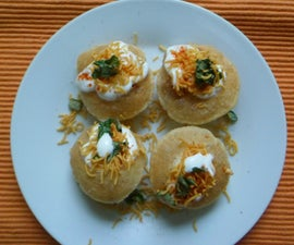 Indian Chat Dahi Puri With Cottage Cheese