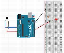 Arduino Controled Temperature Sensor With Warning Light