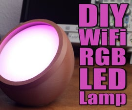 DIY WiFi RGB LED Lamp