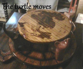 The Great Atuin : A Wooden Discworld Cake Stand and Serving Platter