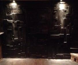 Scrap Wood Wall Art With Secret Door.