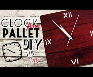 Wall-Clock From Pallet Boards - VIDEO!!