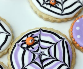 How to Make a Spider Web Cookie
