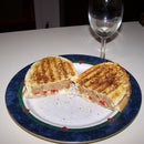 Meatloaf Pannini on Garlic Sourdough