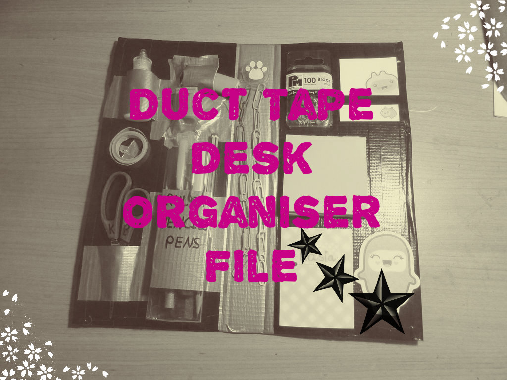 Picture of Duct Tape Desk Organiser File