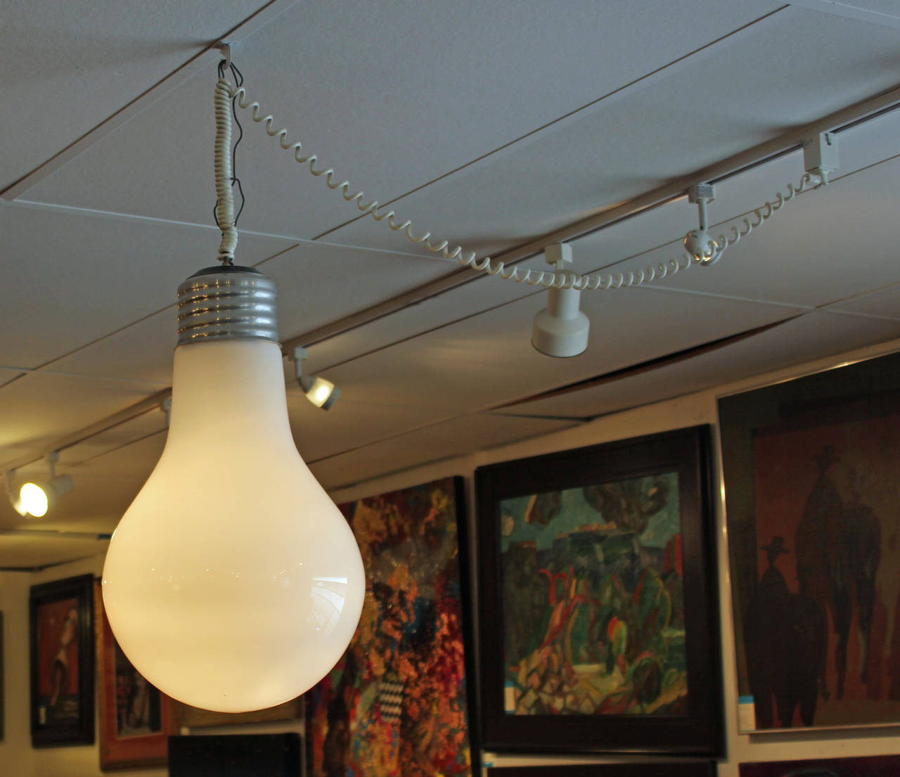 Picture of Giant Hanging Light Bulb Lamp