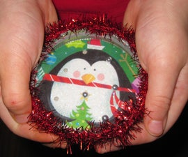 PILL PUZZLE ORNAMENT:  recycling and reusing