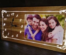 Make An LED Iluminated Hardwood Clock Photo Frame