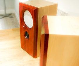 Making Solid Padauk and Maple Bookshelf Speakers
