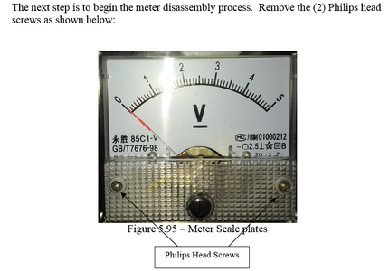 Meter Disassembly