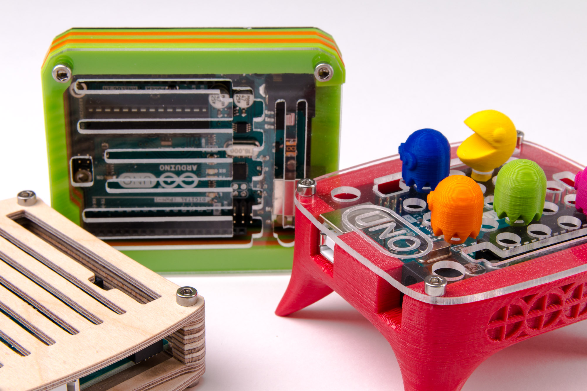 Picture of 3 Custom Arduino Cases - 3D Printing & CNC Milling
