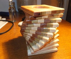 Corkscrew Layered Candle Holder