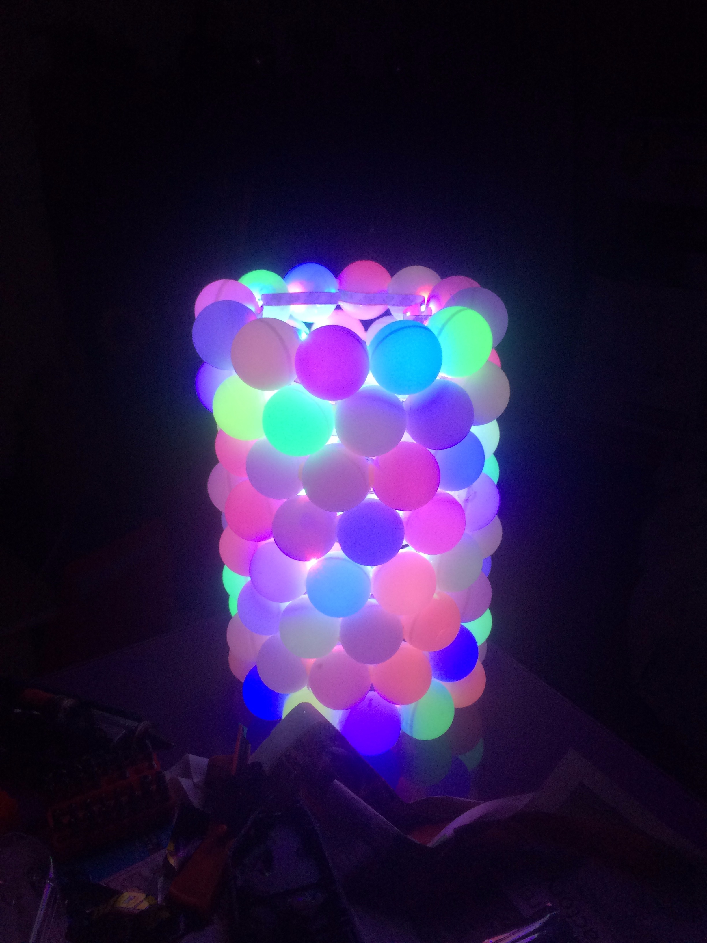 Picture of RGB Led Ping Pong Ball Lamp