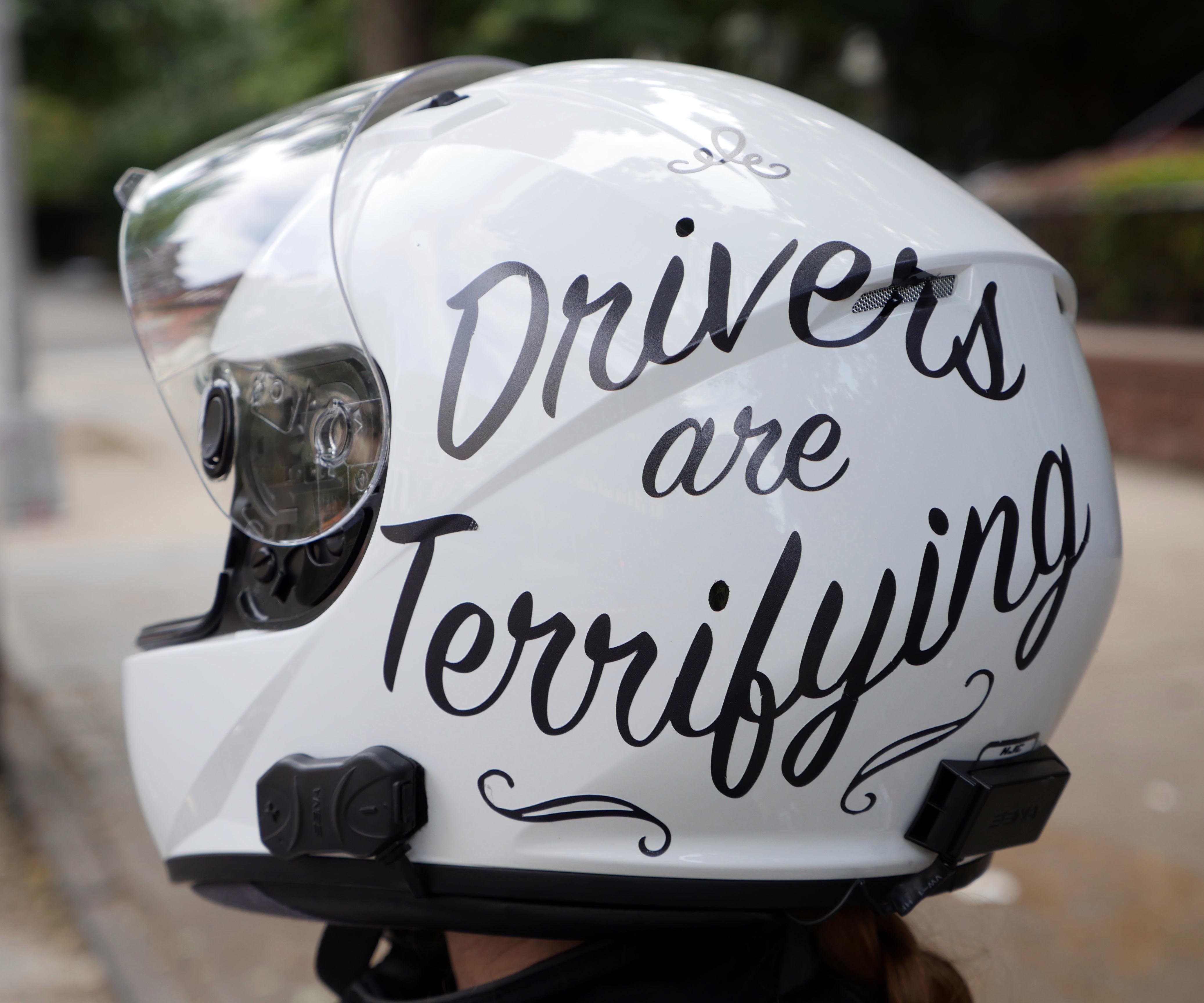 PERSONALISED INITIALS STICKER. MOTORCYCLE HELMET