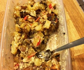 The Tastiest Tater Salad Around! Vegan and Low Fat :)