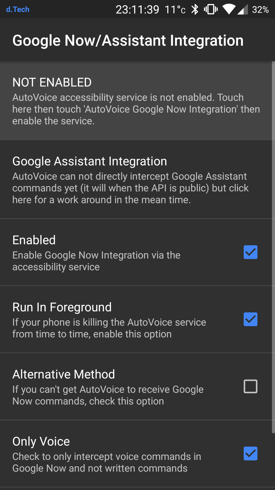 Picture of Auto-Voice Settings