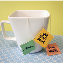 DIY: Paint Chip Tea Bag Tags