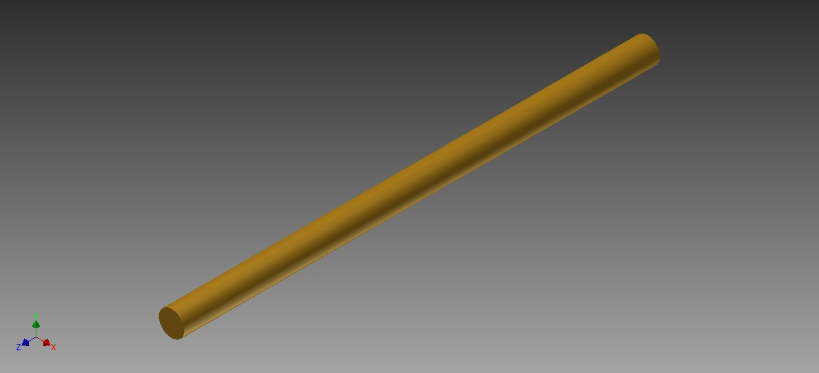 Picture of Cutting the Brass Rod to Length