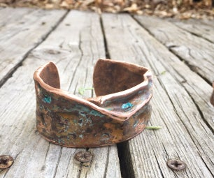 Forged Repurposed Copper Pipe Cuff