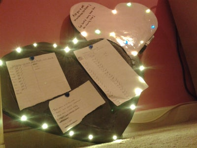 Heart Notice / Picture Board With LED's