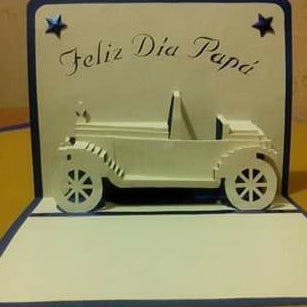 How to Make a Classical CAR Pop Up Card (Kirigami 3D) Greeting Card