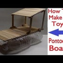 How to Make a Toy Pontoon Boat With Some Recycled Materials!