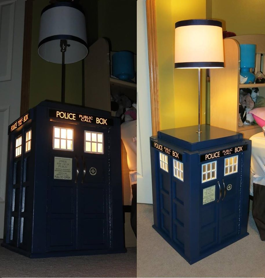 Picture of Light Up Tardis Bedside Table With Built in Lamp