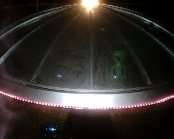 A Flying Saucer Has Landed in My Yard!
