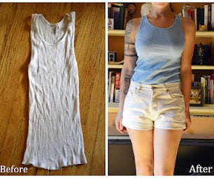 Recycle Old Clothes: Turn White Ribbed Tanks into New Colorful Tops