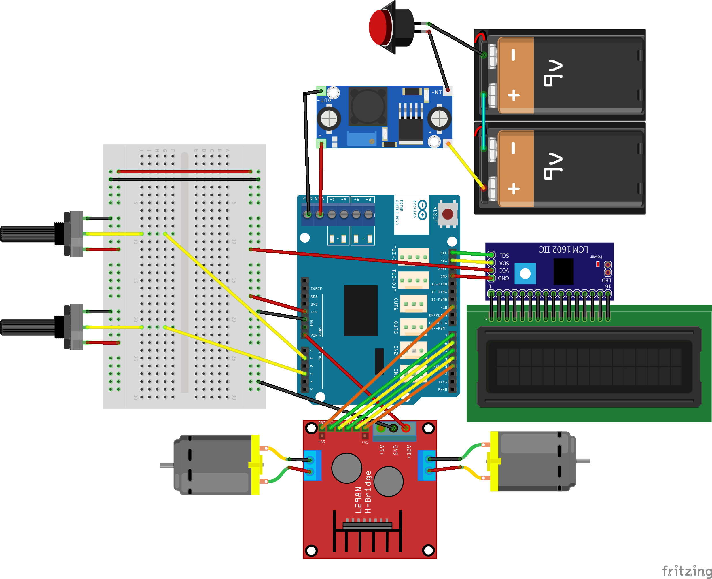 Picture of Wiring the Arduino and Components