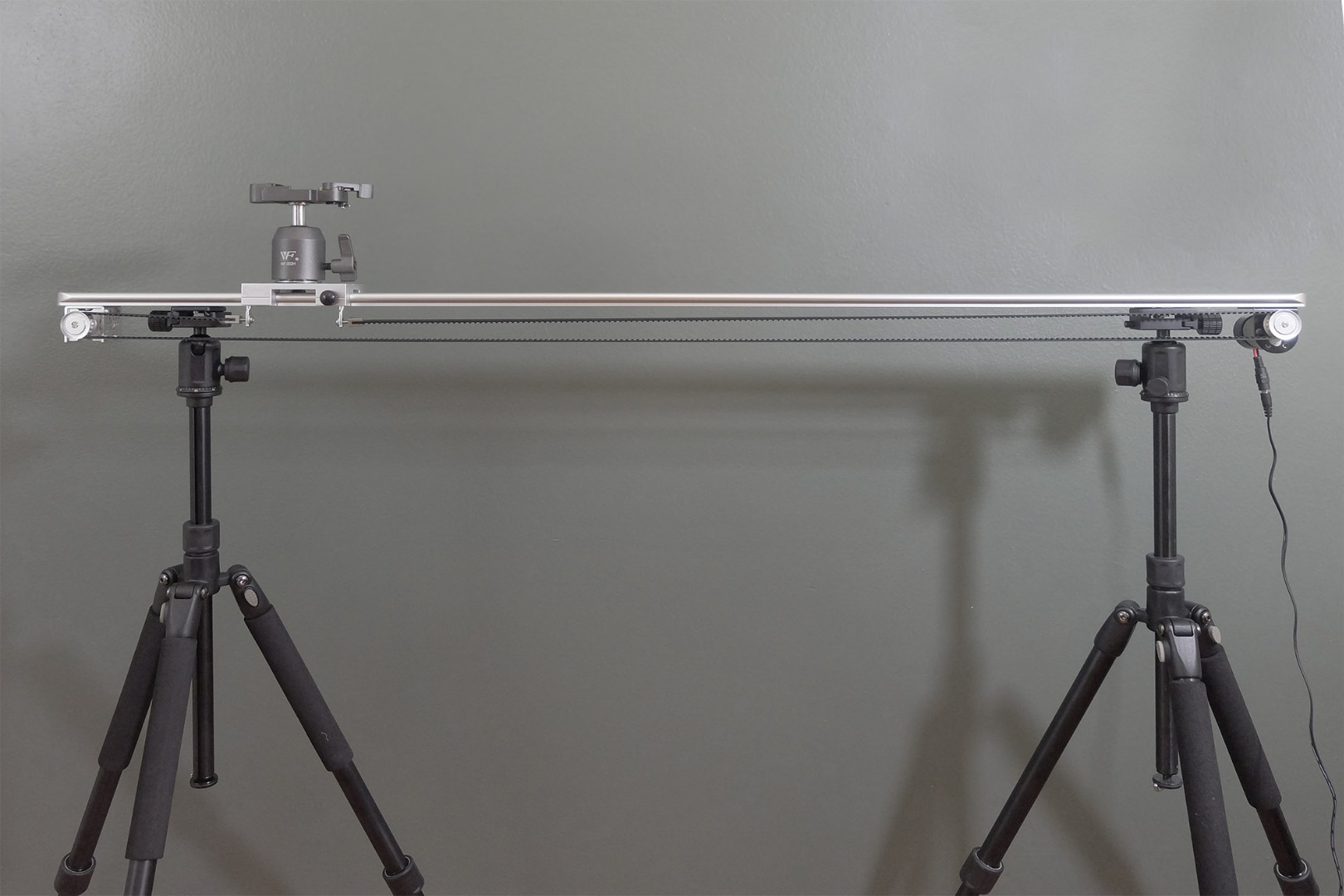 """Picture of THE INTERNET'S CHEAPEST MOTORIZED, BELT DRIVEN, 48"""" DIY CAMERA SLIDER"""