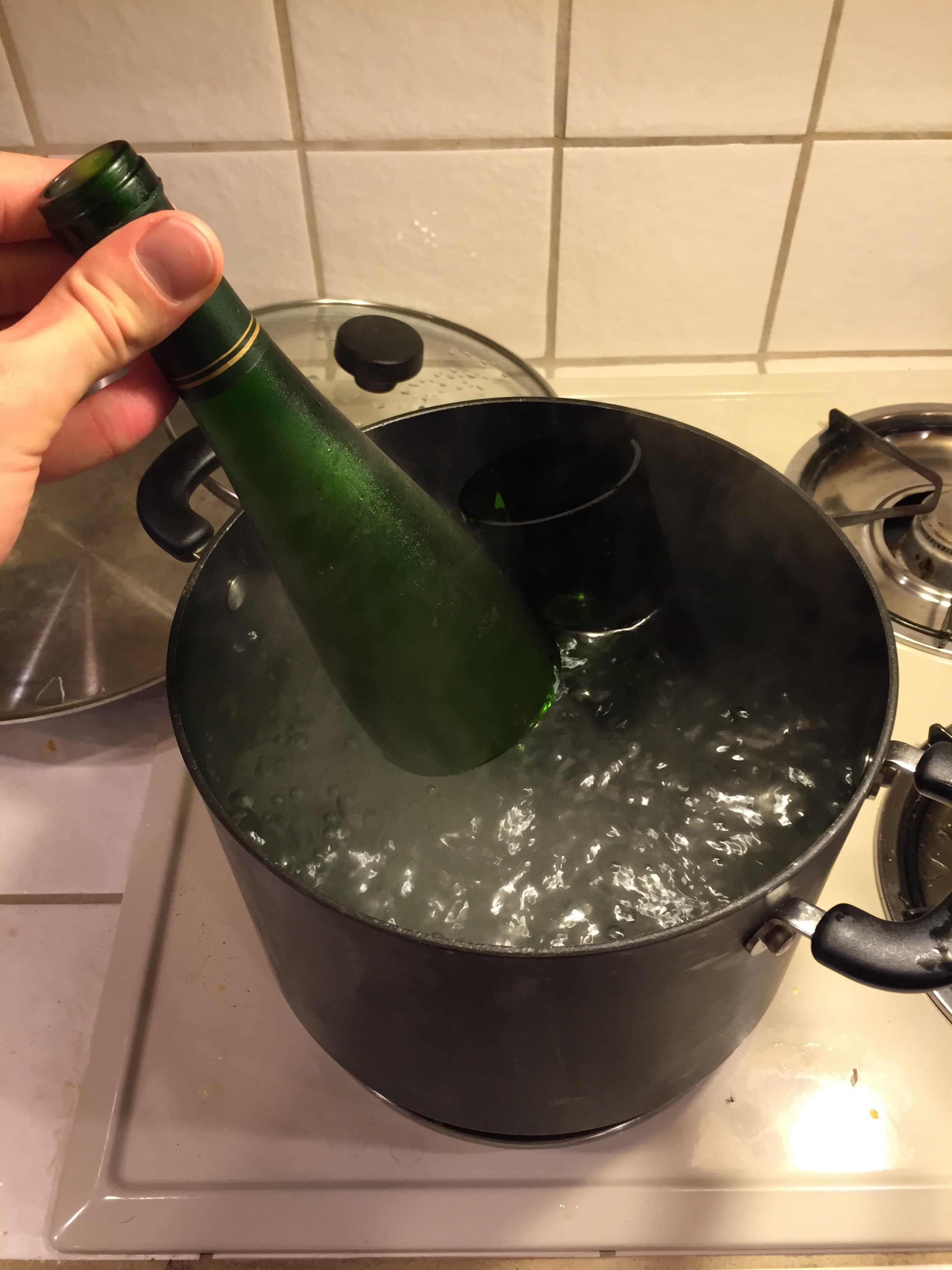"""Picture of """"Cutting"""" the Bottle"""