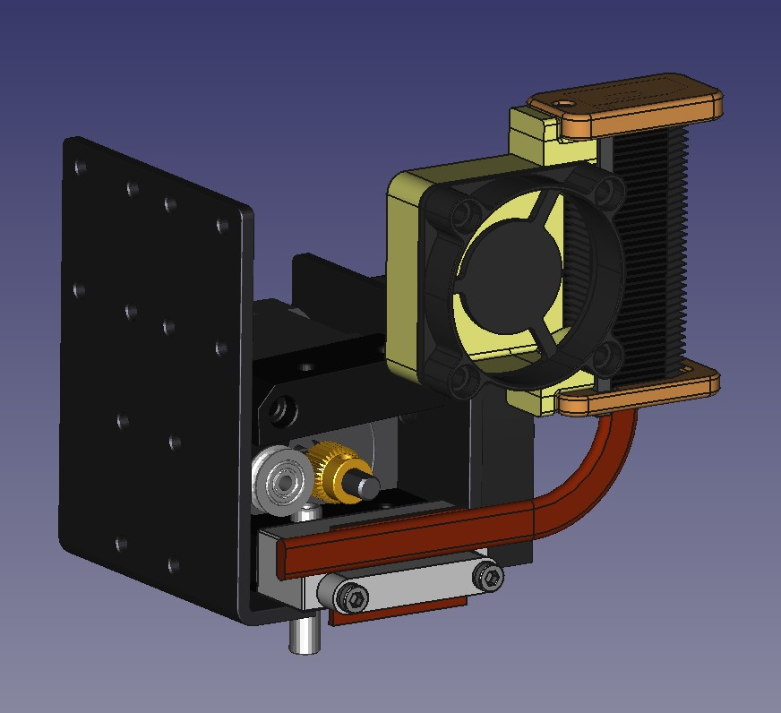 Picture of Anet A8 Extruder Cooler Mod