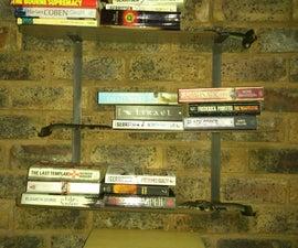 Ceiling fan blade book shelf