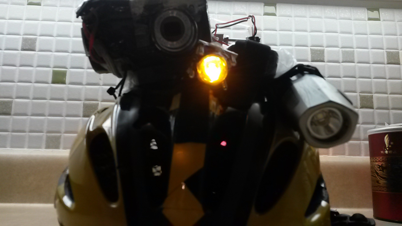Picture of High Powered Helmet Light (Front, Side, and Rear Combo)
