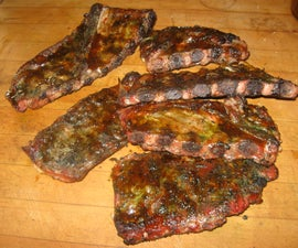 Triple Happiness Asian Spice Ribs Smoked with Green Tea