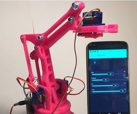 App Controlled Robotic Arm (Blynk)