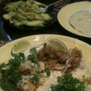 Chicken Chile Verde Tacos
