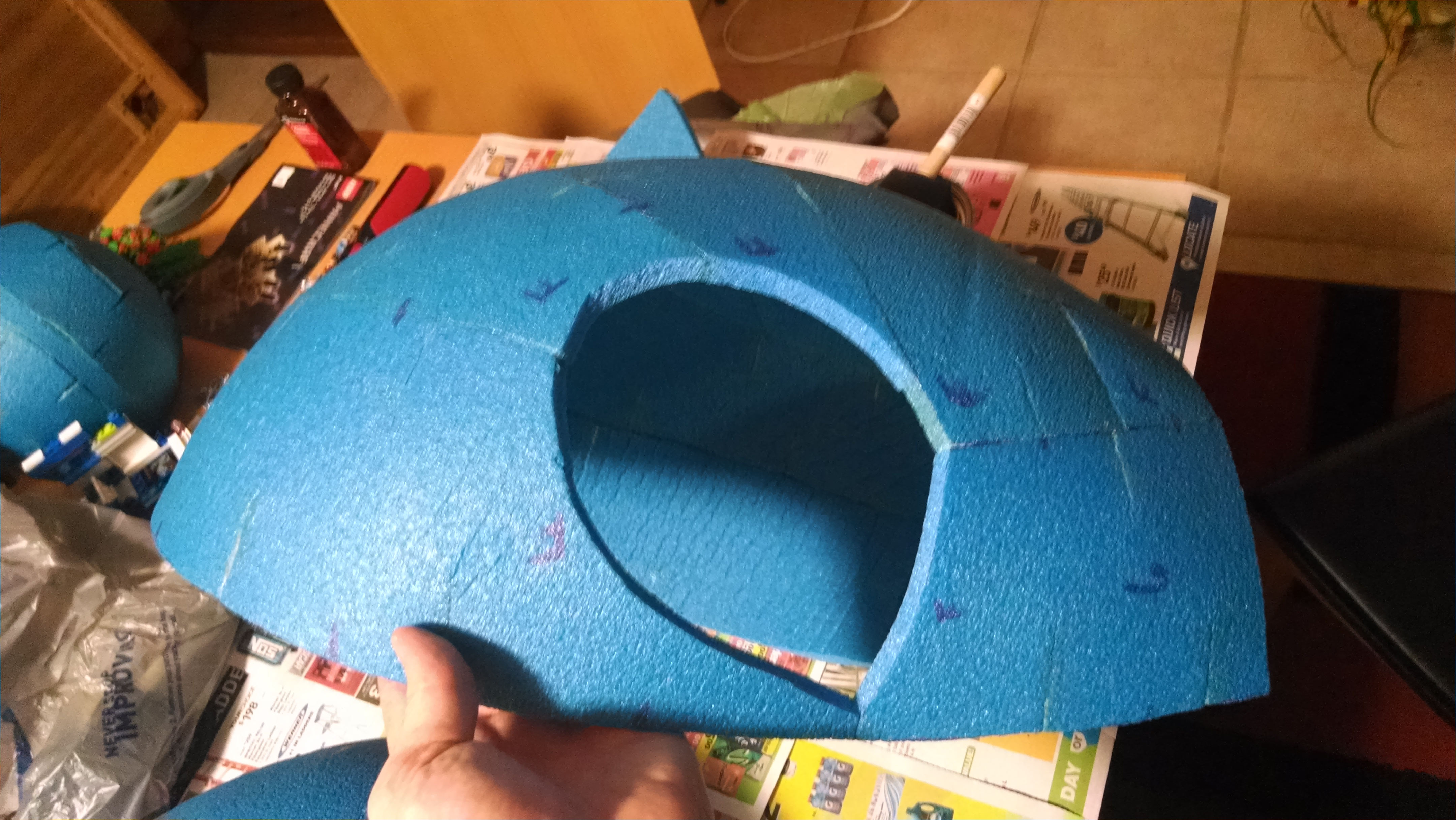 Picture of Sonic's Head: Basic Outside Shape