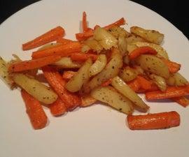 Baked Potatoes and Carots