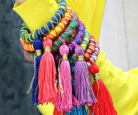Rope and Tassel Bangles