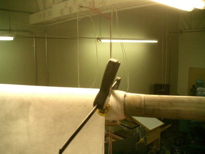 I Use Two Quick Clamps at Top to Determine Hanging Length.