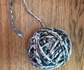 Hand Spun Newspaper Yarn