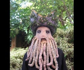 Davy Jones Mask With Moving Tentacles