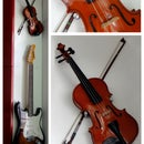 Hang a Violin using Glass Holder and Faucet Gasket