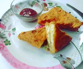 Fried Bread Pakoda - Who's Hungry