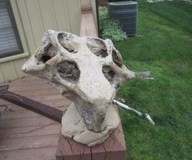 Dinosaur skeleton from photos